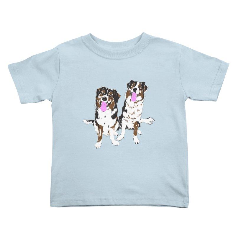 Half & Tilu Kids Toddler T-Shirt by Dror Miler's Artist Shop