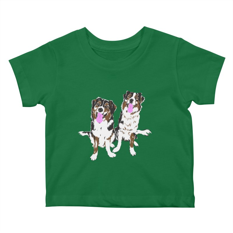 Half & Tilu Kids Baby T-Shirt by Dror Miler's Artist Shop
