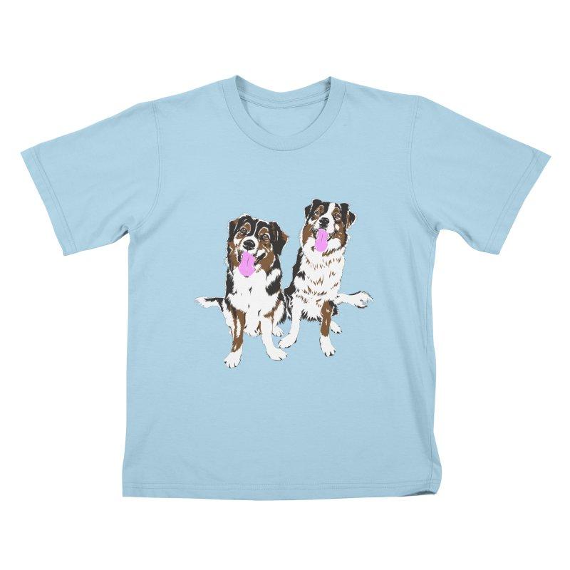 Half & Tilu Kids T-Shirt by Dror Miler's Artist Shop