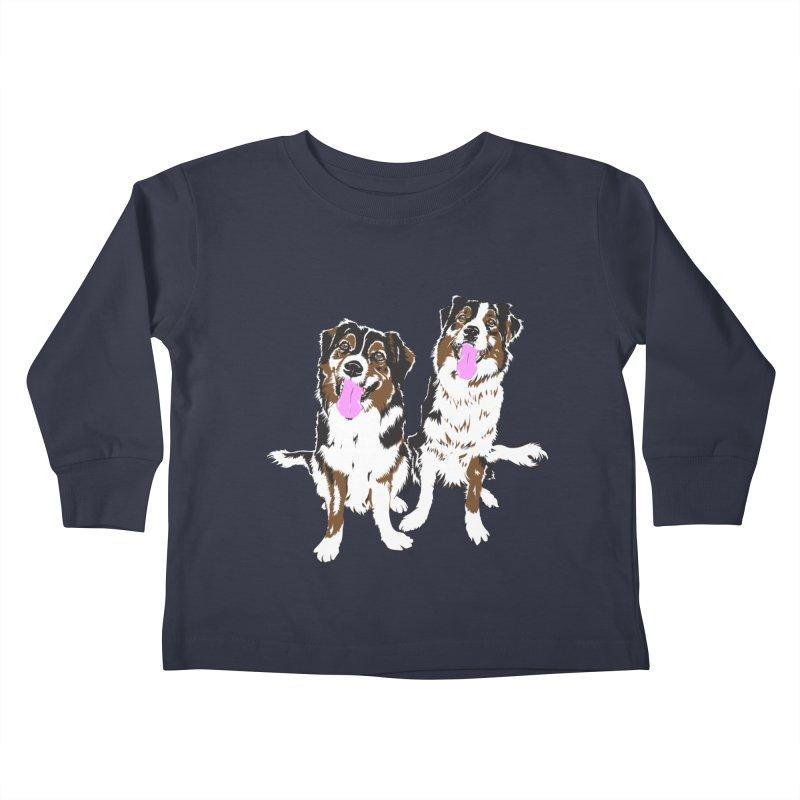 Half & Tilu Kids Toddler Longsleeve T-Shirt by Dror Miler's Artist Shop