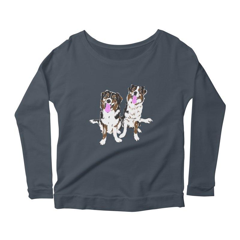 Half & Tilu Women's Scoop Neck Longsleeve T-Shirt by Dror Miler's Artist Shop