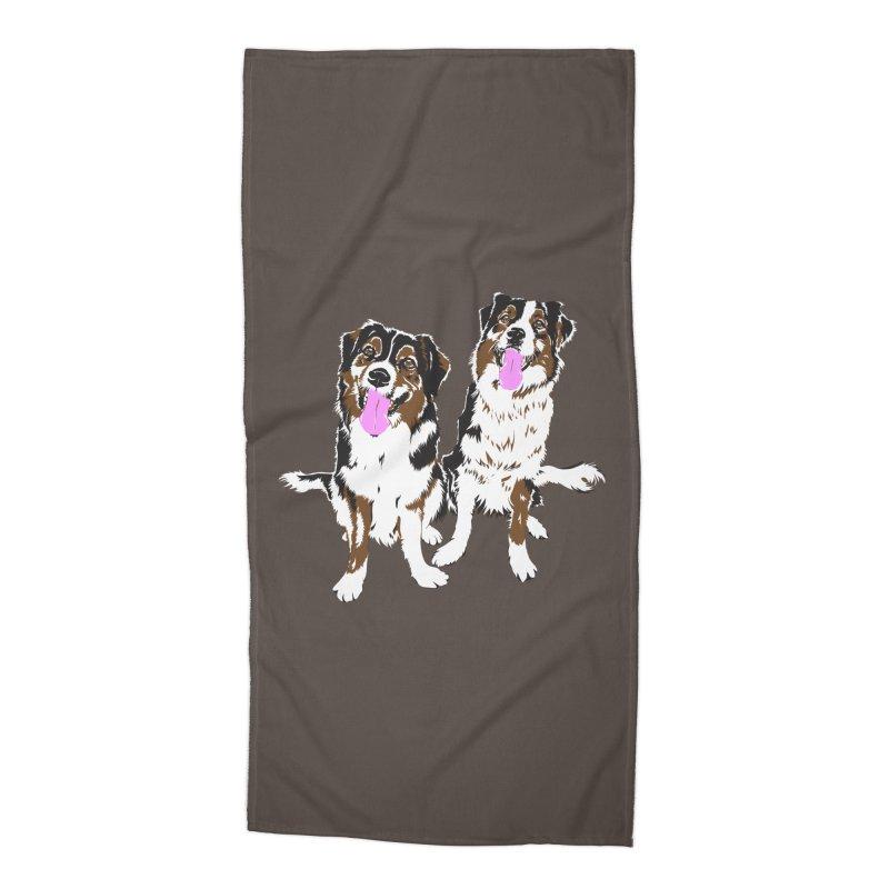 Half & Tilu Accessories Beach Towel by Dror Miler's Artist Shop
