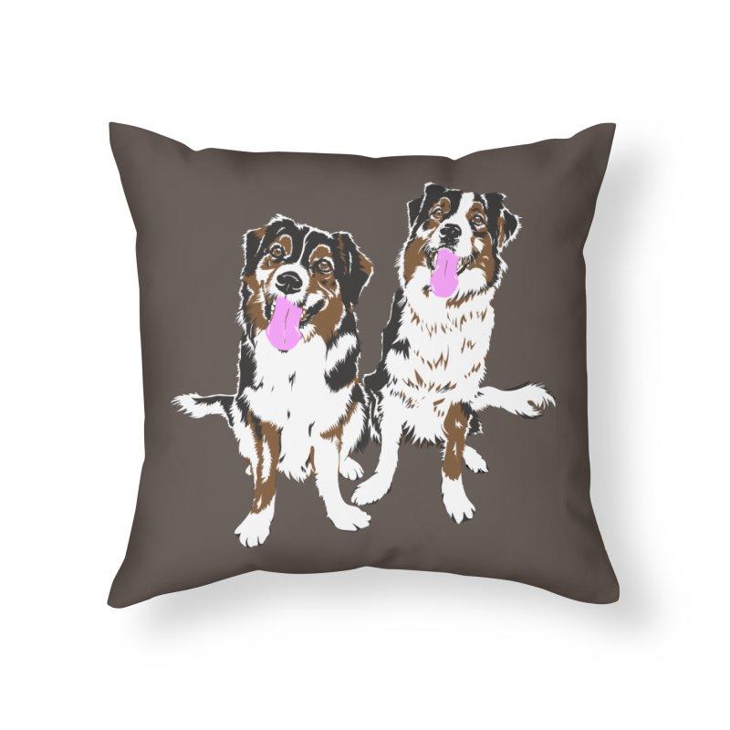 Half & Tilu Home Throw Pillow by Dror Miler's Artist Shop