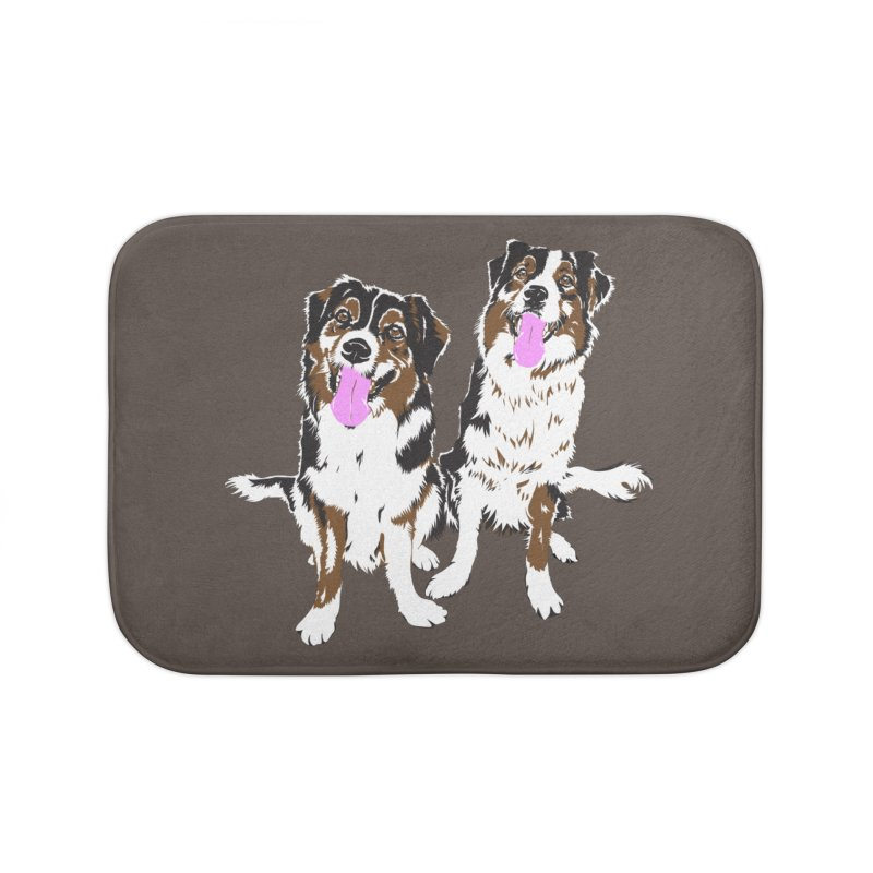 Half & Tilu Home Bath Mat by Dror Miler's Artist Shop