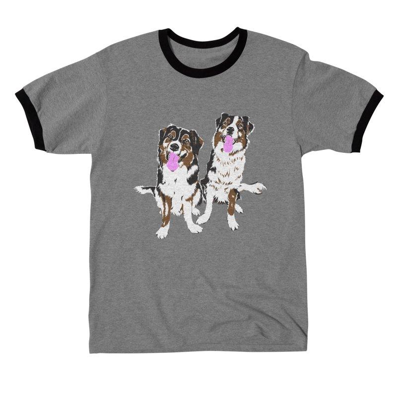 Half & Tilu - Pink BG Men's T-Shirt by Dror Miler's Artist Shop
