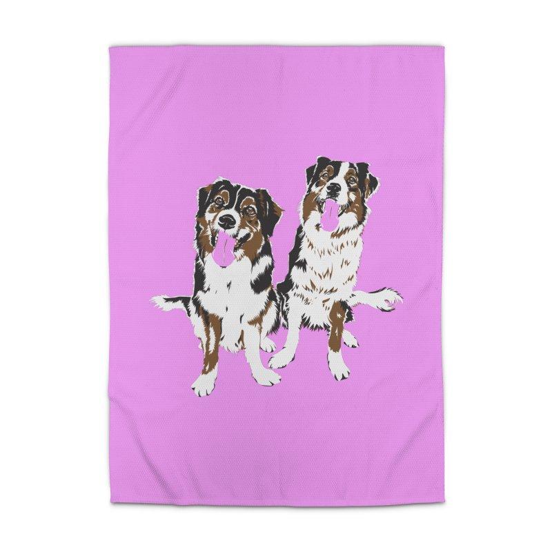 Half & Tilu - Pink BG Home Rug by Dror Miler's Artist Shop