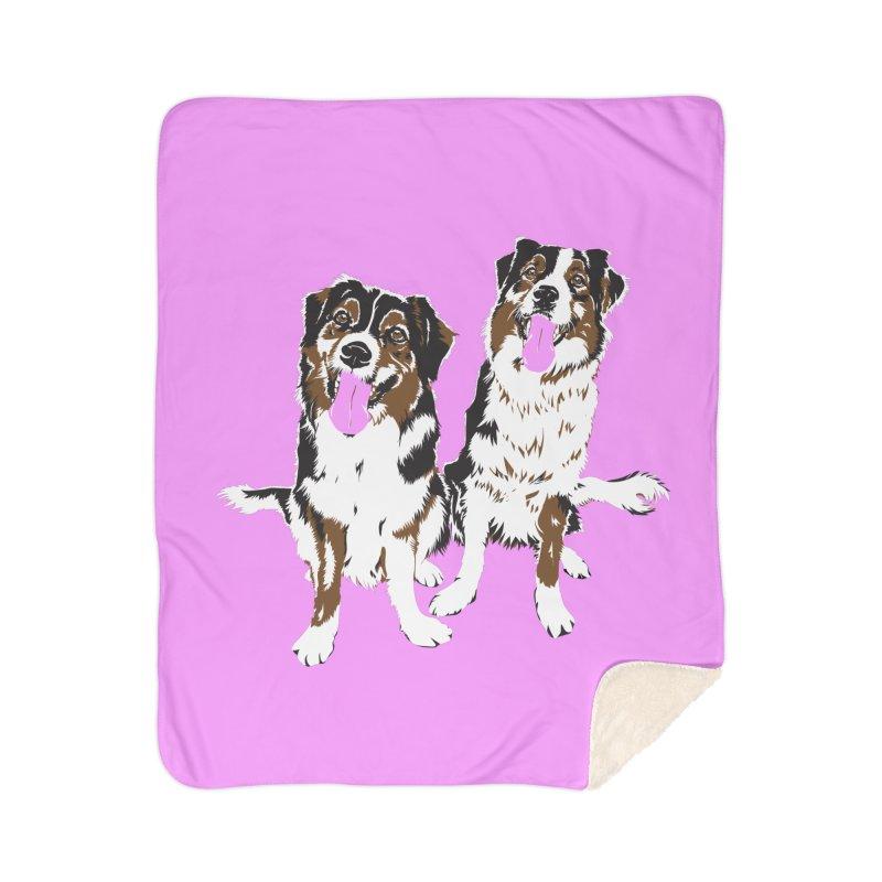 Half & Tilu - Pink BG Home Blanket by Dror Miler's Artist Shop