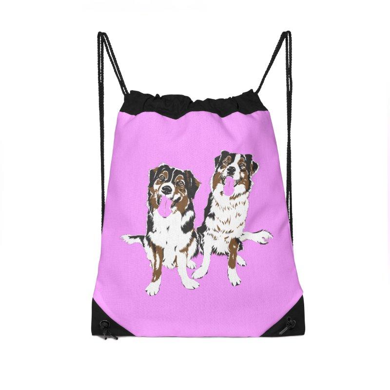 Half & Tilu - Pink BG Accessories Bag by Dror Miler's Artist Shop
