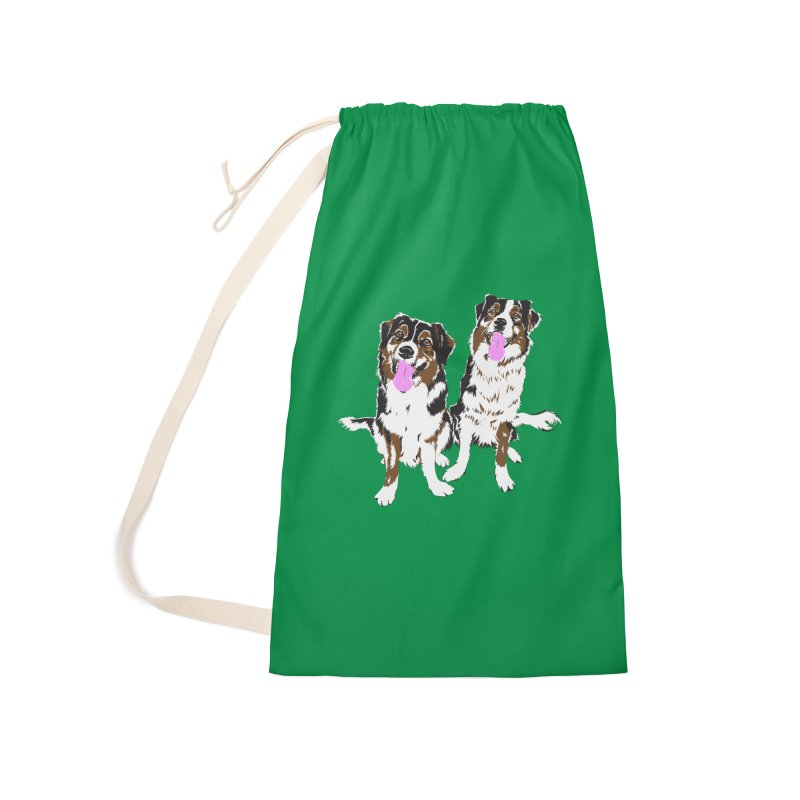 Half & Tilu - Green BG Accessories Bag by Dror Miler's Artist Shop