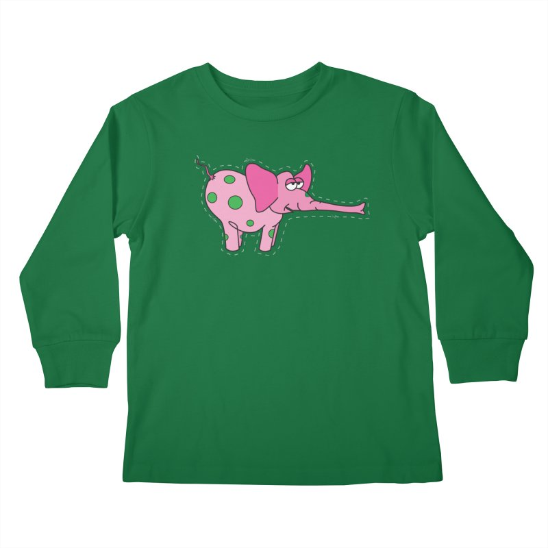 Pink elephant with green dots   by Dror Miler's Artist Shop