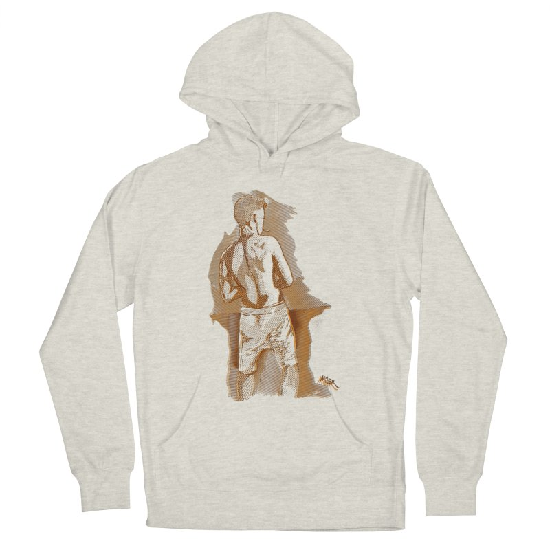 Smoking guy Men's Pullover Hoody by Dror Miler's Artist Shop
