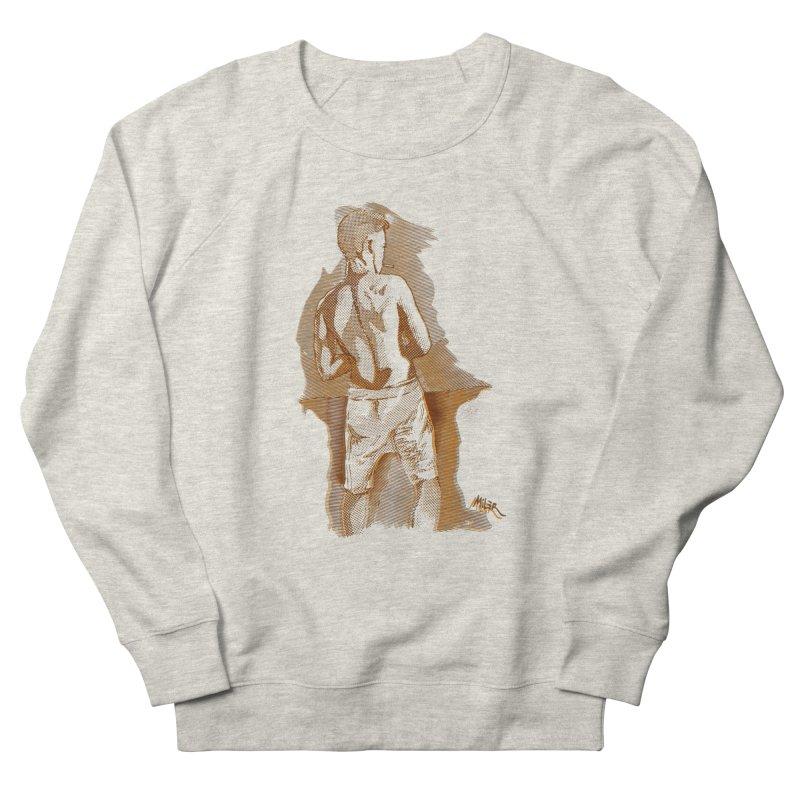 Smoking guy Men's Sweatshirt by Dror Miler's Artist Shop