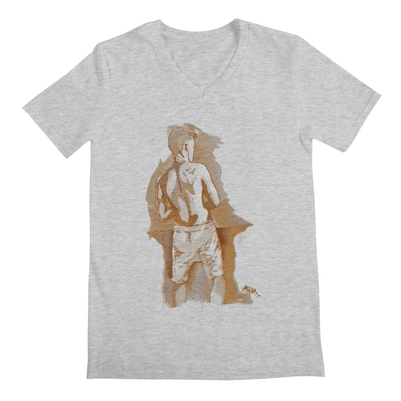 Smoking guy Men's V-Neck by Dror Miler's Artist Shop