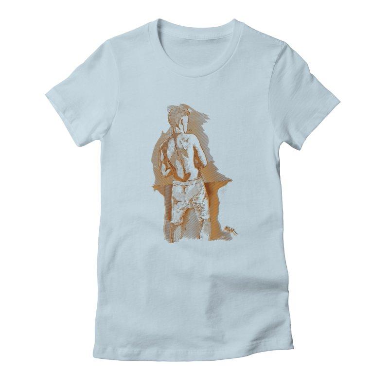 Smoking guy Women's T-Shirt by Dror Miler's Artist Shop