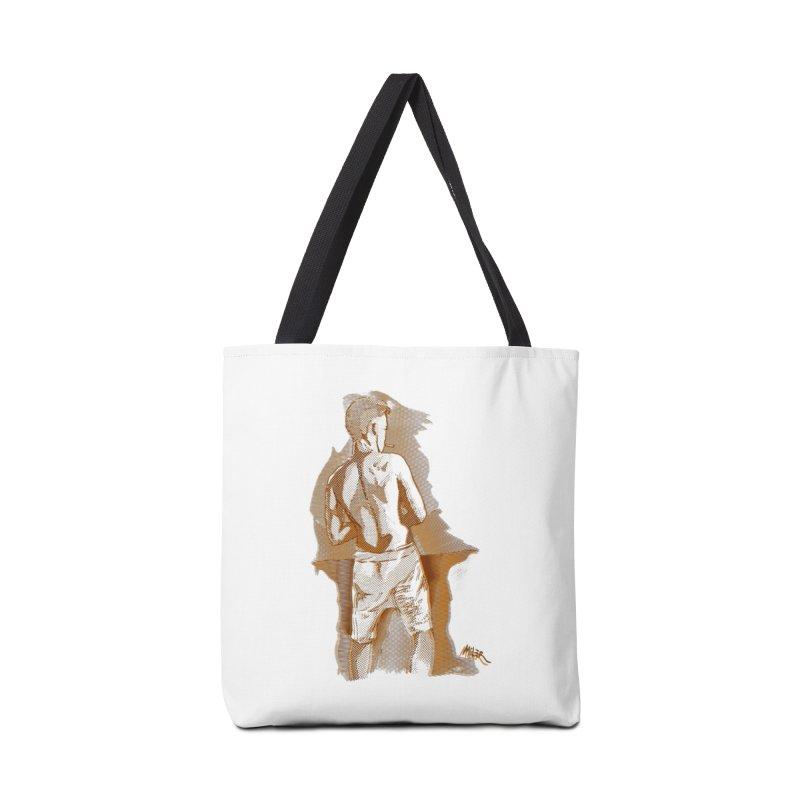 Smoking guy Accessories Bag by Dror Miler's Artist Shop