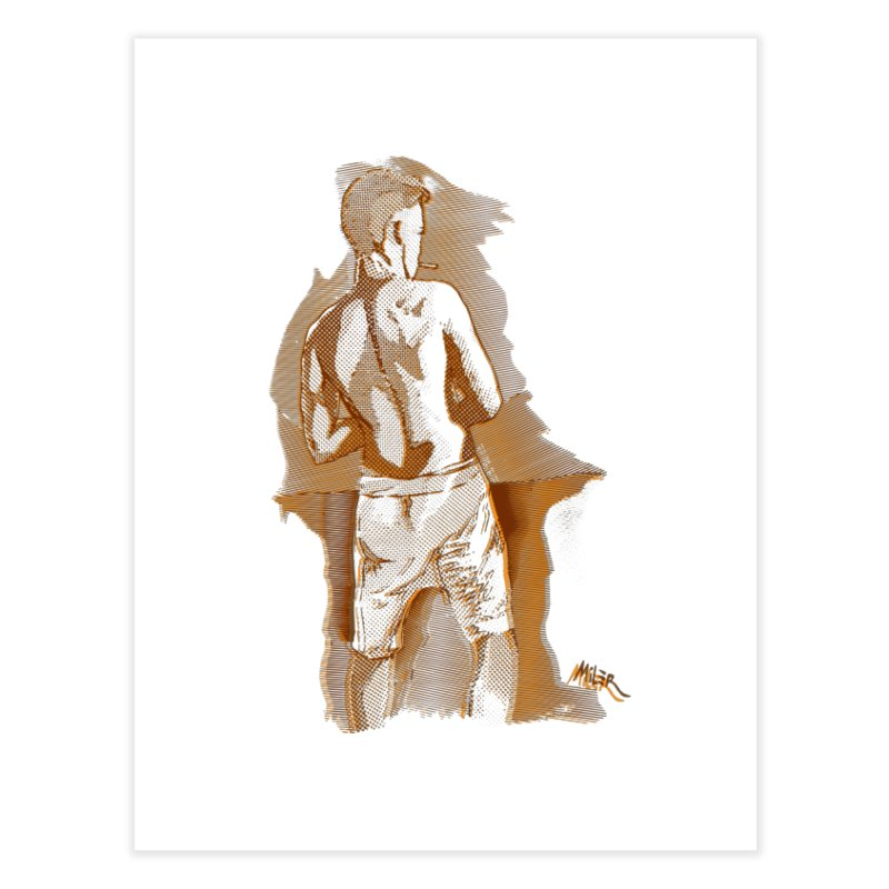 Smoking guy Home Fine Art Print by Dror Miler's Artist Shop