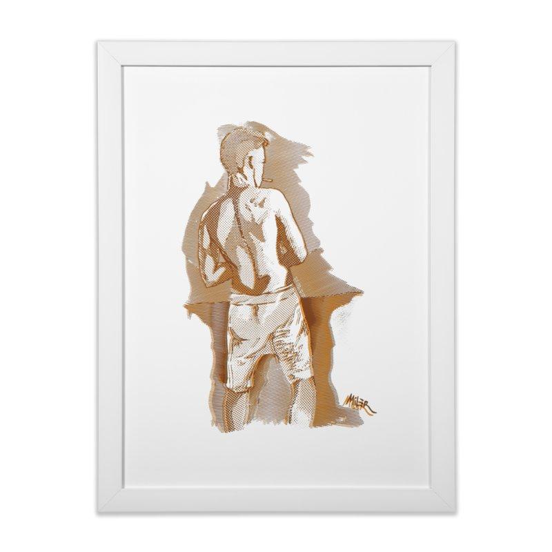 Smoking guy Home Framed Fine Art Print by Dror Miler's Artist Shop