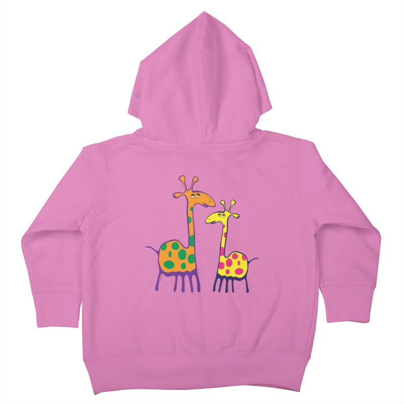 Couple of colorful giraffes Kids Toddler Zip-Up Hoody by Dror Miler's Artist Shop