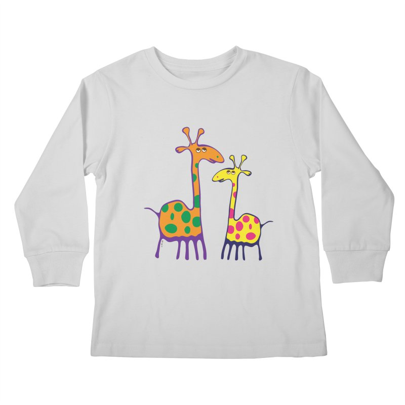 Couple of colorful giraffes   by Dror Miler's Artist Shop