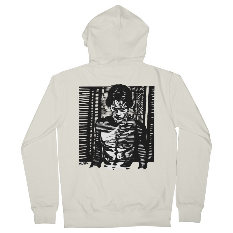 Rusty James Men's Zip-Up Hoody by Dror Miler's Artist Shop