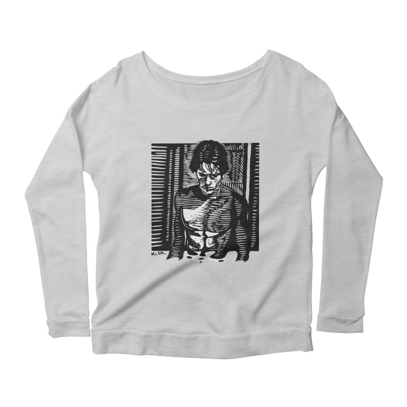 Rusty James Women's Longsleeve Scoopneck  by Dror Miler's Artist Shop