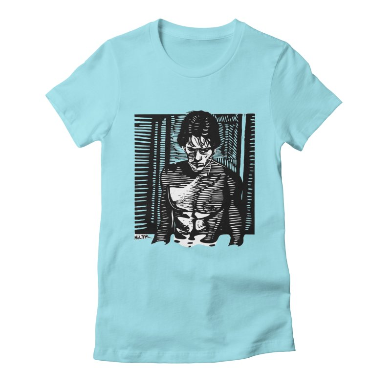 Rusty James Women's Fitted T-Shirt by Dror Miler's Artist Shop