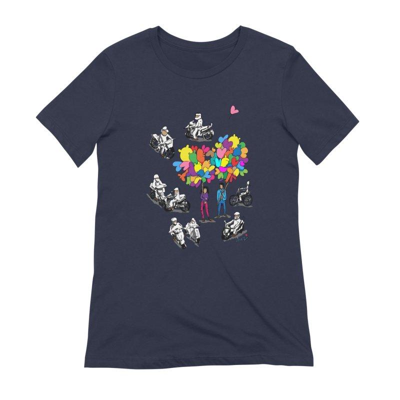 Hanoi Circle Mess Women's Extra Soft T-Shirt by Dror Miler's Artist Shop