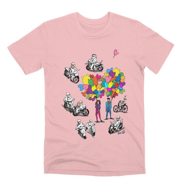 Hanoi Circle Mess Men's Premium T-Shirt by Dror Miler's Artist Shop