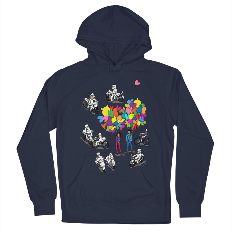 Hanoi Circle Mess Men's French Terry Pullover Hoody by Dror Miler's Artist Shop