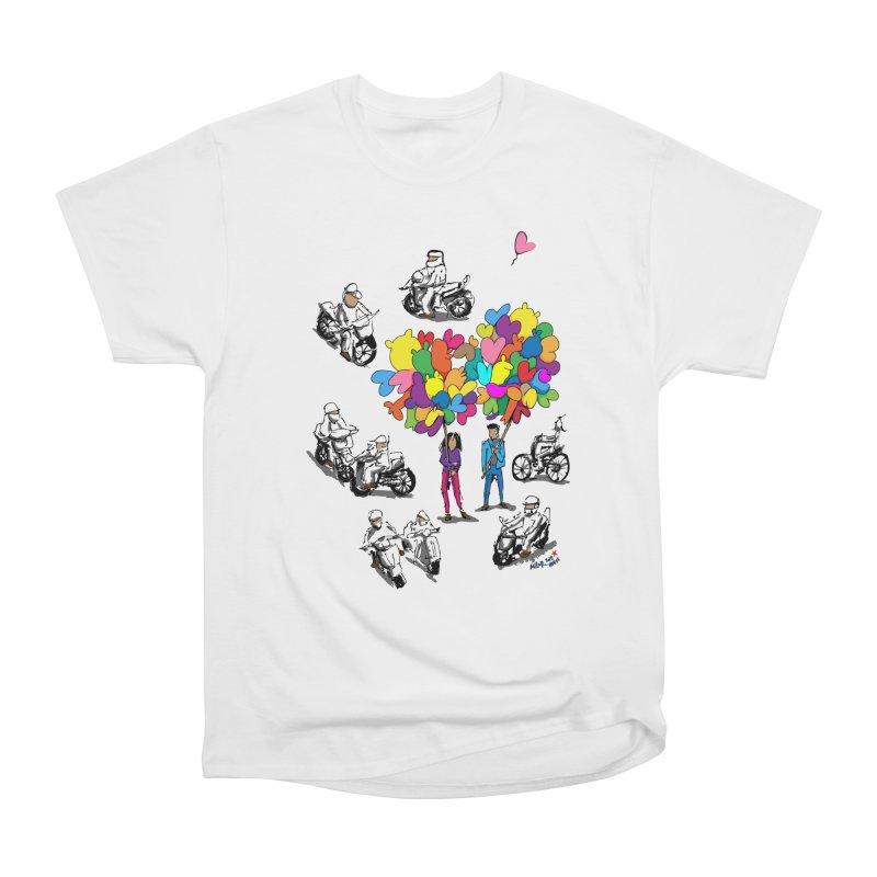Hanoi Circle Mess Women's Heavyweight Unisex T-Shirt by Dror Miler's Artist Shop