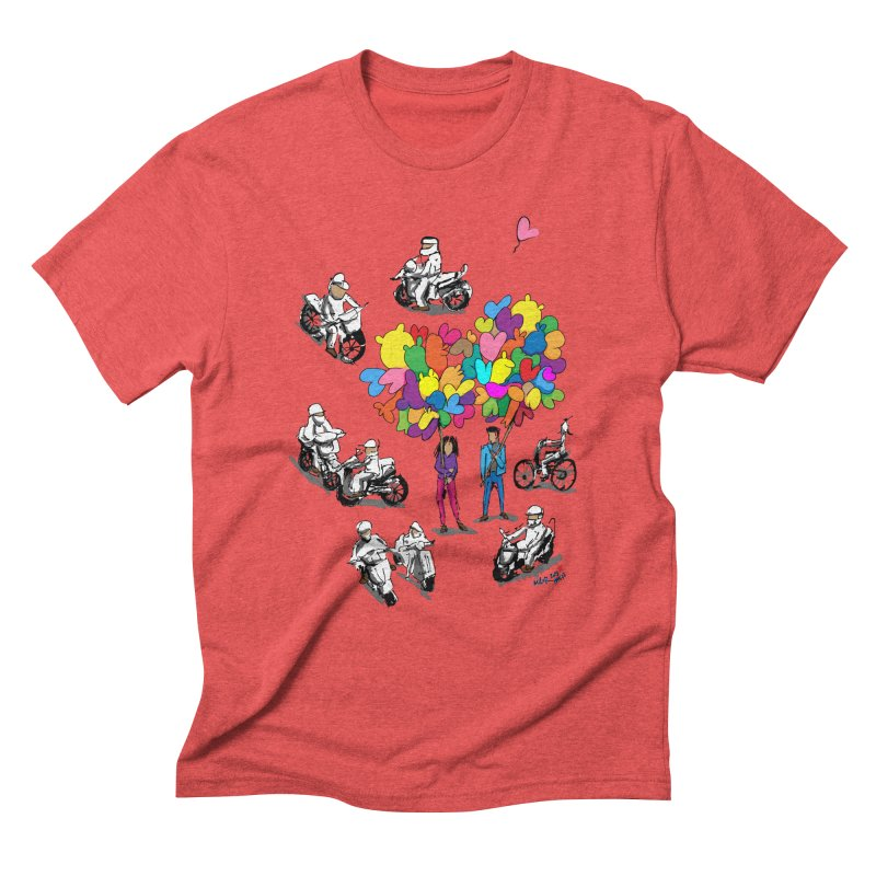 Hanoi Circle Mess Men's Triblend T-Shirt by Dror Miler's Artist Shop