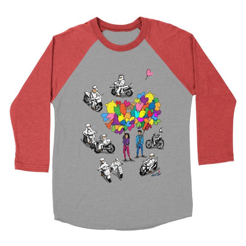 Hanoi Circle Mess Women's Baseball Triblend Longsleeve T-Shirt by Dror Miler's Artist Shop