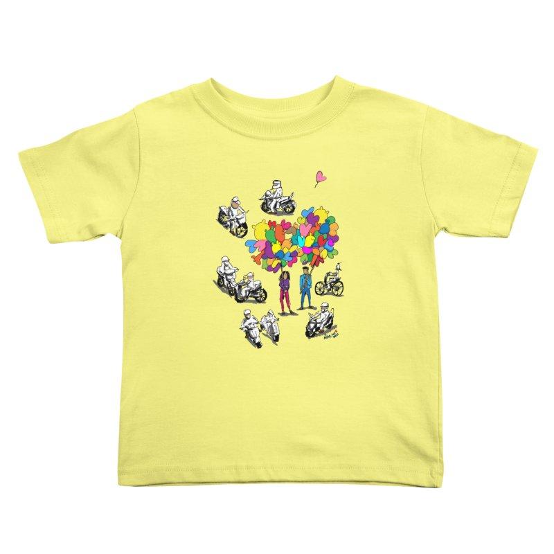 Hanoi Circle Mess Kids Toddler T-Shirt by Dror Miler's Artist Shop
