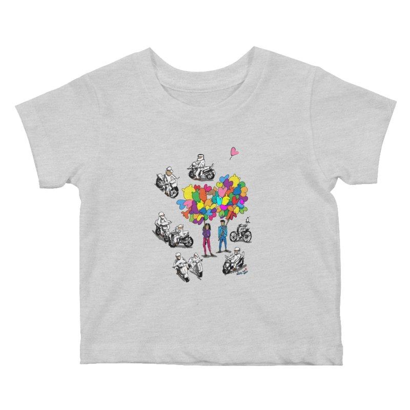 Hanoi Circle Mess Kids Baby T-Shirt by Dror Miler's Artist Shop