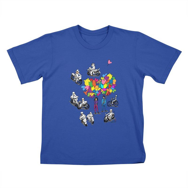 Hanoi Circle Mess Kids T-Shirt by Dror Miler's Artist Shop