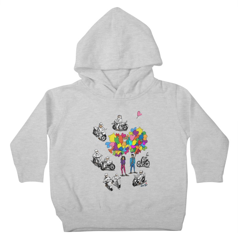Hanoi Circle Mess Kids Toddler Pullover Hoody by Dror Miler's Artist Shop