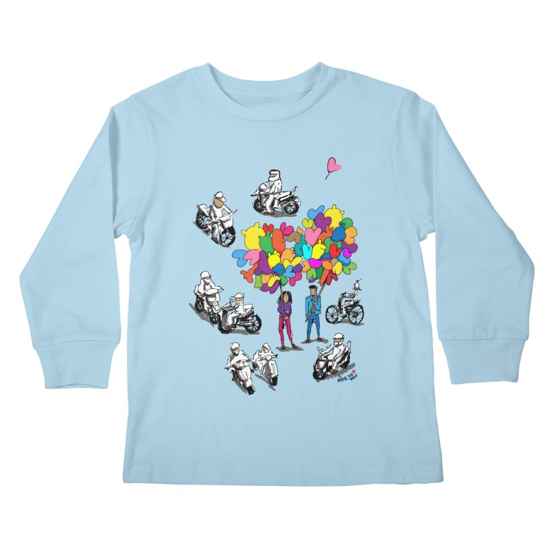 Hanoi Circle Mess Kids Longsleeve T-Shirt by Dror Miler's Artist Shop