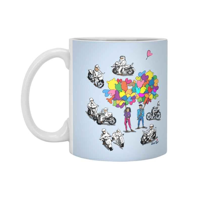Hanoi Circle Mess Accessories Standard Mug by Dror Miler's Artist Shop