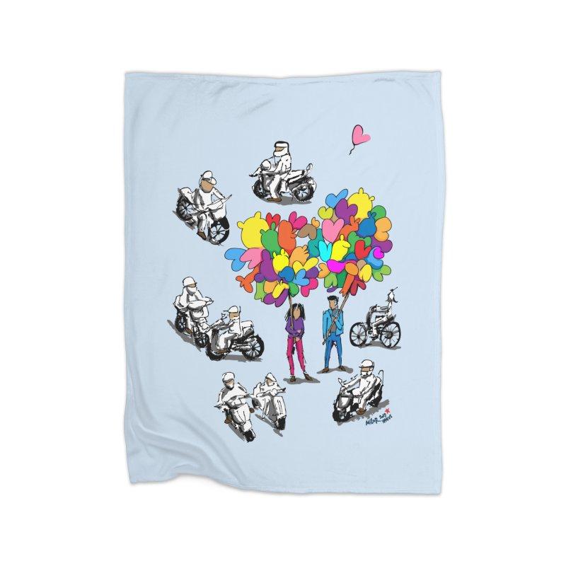 Hanoi Circle Mess Home Fleece Blanket Blanket by Dror Miler's Artist Shop