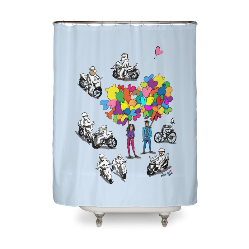 Hanoi Circle Mess Home Shower Curtain by Dror Miler's Artist Shop