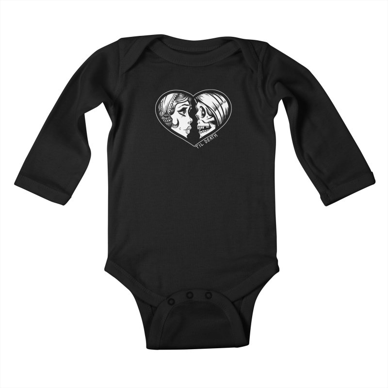 'Til Death Kids Baby Longsleeve Bodysuit by Dro