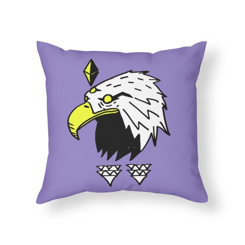 77 Eagle Home Throw Pillow by Ertito Montana