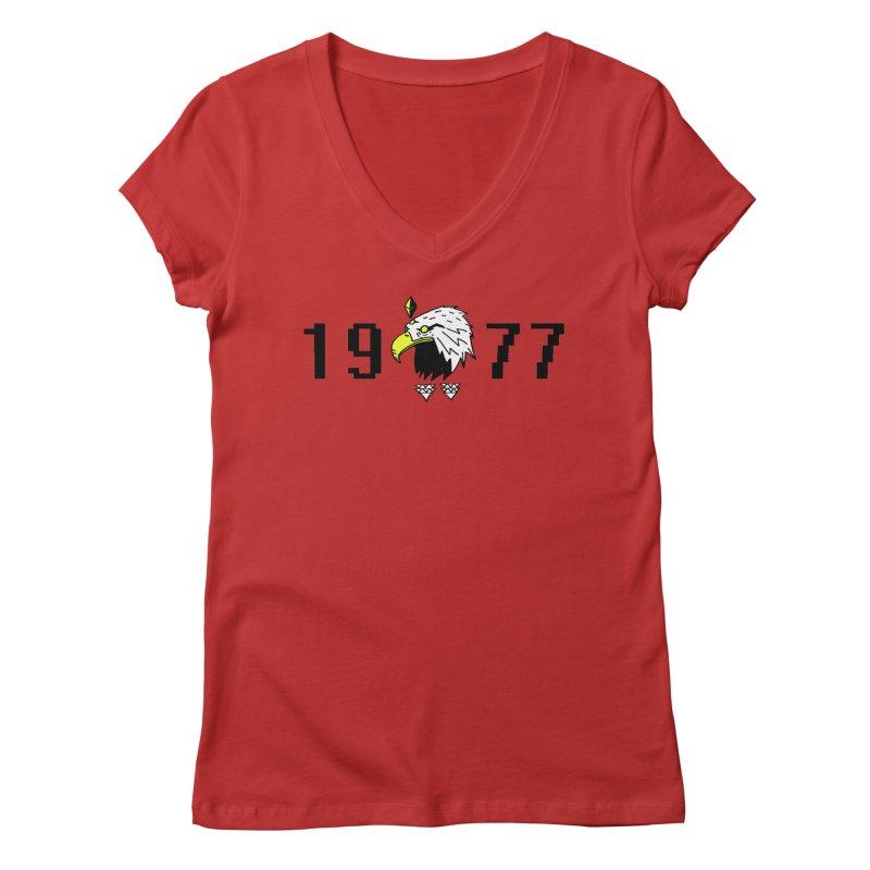 77 Eagle Women's V-Neck by Ertito Montana