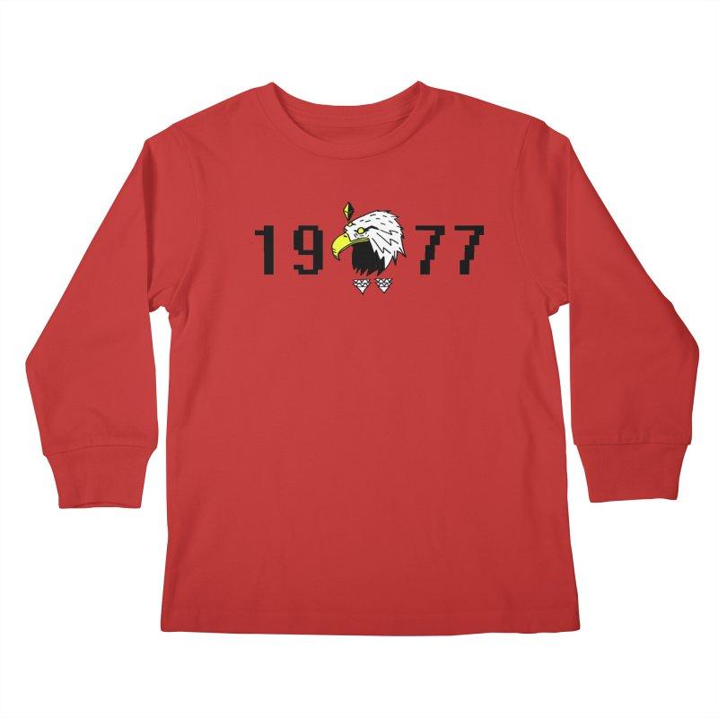 77 Eagle Kids Longsleeve T-Shirt by Ertito Montana