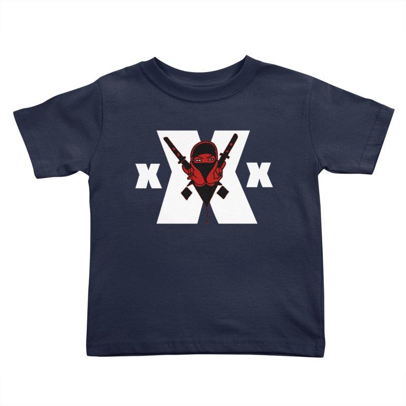 Triple X Ninja Kids Toddler T-Shirt by Ertito Montana
