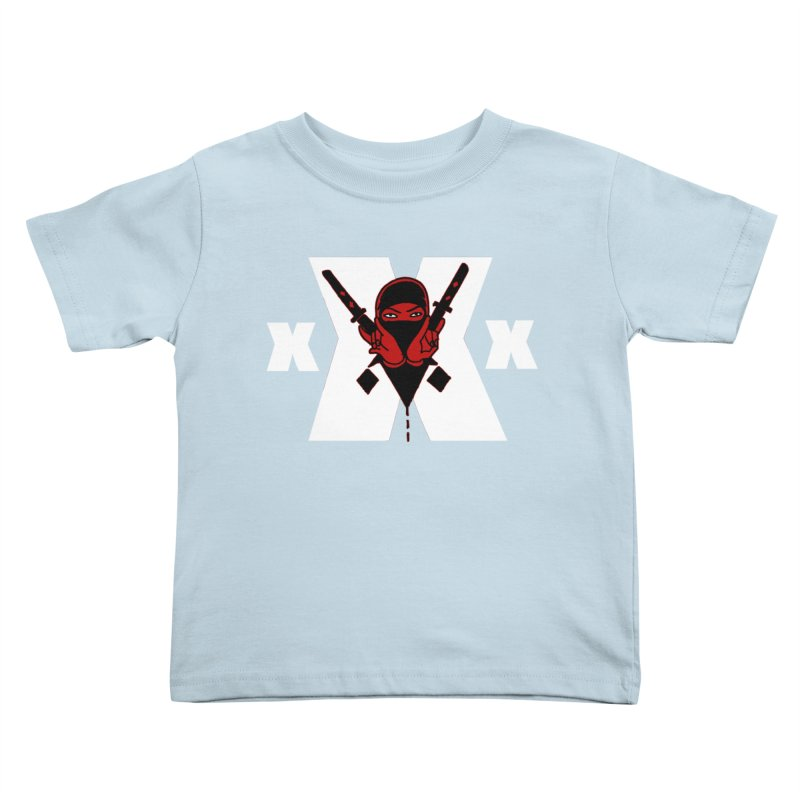 Triple X Ninja Kids Toddler T-Shirt by Ertito Montana