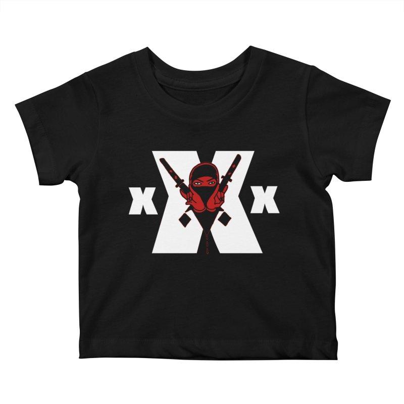 Triple X Ninja Kids Baby T-Shirt by Ertito Montana
