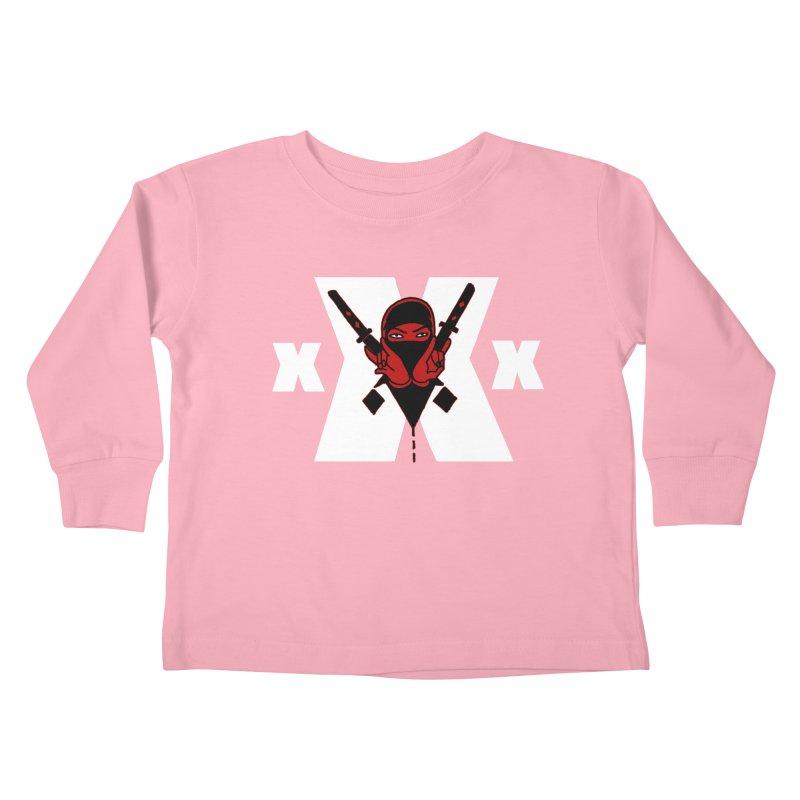 Triple X Ninja Kids Toddler Longsleeve T-Shirt by Ertito Montana
