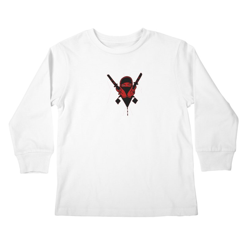 Triple X Ninja Kids Longsleeve T-Shirt by Ertito Montana