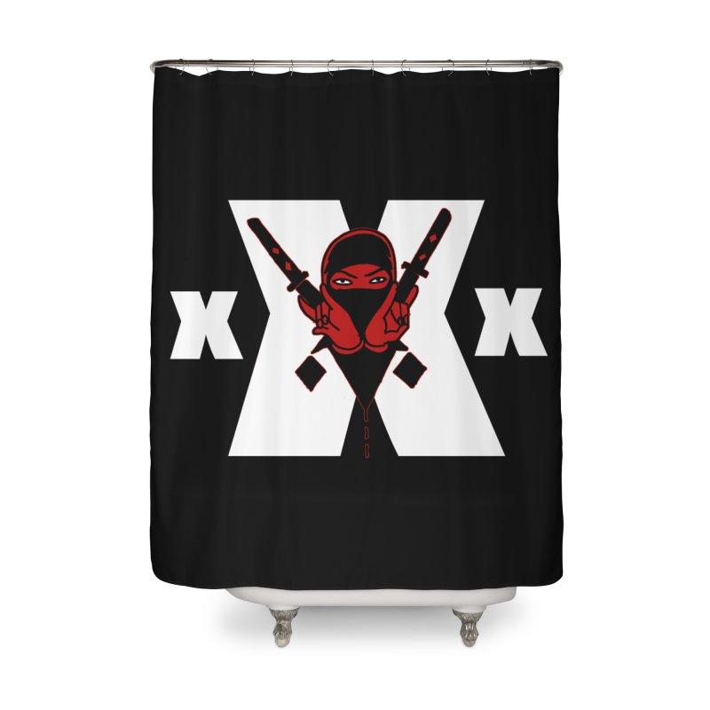 Triple X Ninja Home Shower Curtain by Ertito Montana